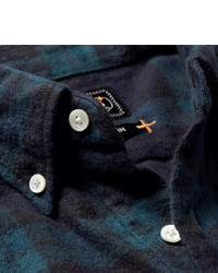 Beams Plus Shaggy Button Down Collar Checked Brushed Cotton ...
