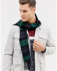 Burton Menswear Scarf In Black And Green Check
