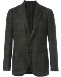 Dark Green Check Wool Blazer