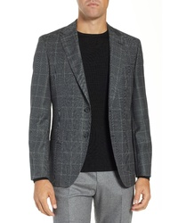 BOSS Jewels Classic Fit Windowpane Wool Sport Coat