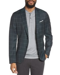 BOSS Nobis Trim Fit Windowpane Wool Sport Coat