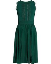 Elie Saab Lace Insert Sleeveless Dress