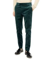 Topman A List Skinny Fit Velve Trousers