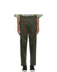 Nicholas Daley Green 70s Trousers