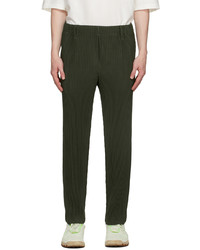 Homme Plissé Issey Miyake Green Basics Pleated Trousers