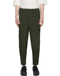 Homme Plissé Issey Miyake Green Basics Trousers
