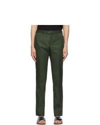 Isaia Green Cotton Sanita Trousers