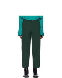 Balenciaga Green Cropped Trousers