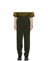 Haider Ackermann Green High Waist Trousers