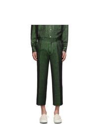 Sies Marjan Green Lurex Cropped Trousers