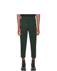 Homme Plissé Issey Miyake Green Mc December Trousers