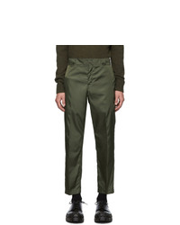 Prada Green Nylon Gabardine Trousers