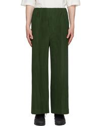 Homme Plissé Issey Miyake Green Pleats 2 Trousers