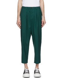 Marni Green Twill Darted Trousers