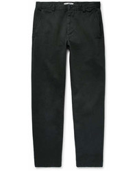 Acne Studios Isher Slim Fit Cotton Twill Trousers