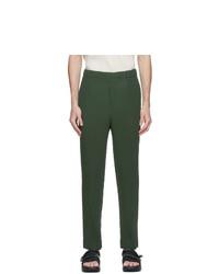 Homme Plissé Issey Miyake Khaki Basics Trousers