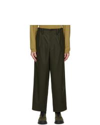 Issey Miyake Men Khaki Light Milled Trousers