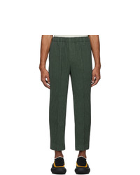 Homme Plissé Issey Miyake Khaki Light Pleated Trousers
