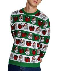 Dark Green Christmas Crew-neck Sweater