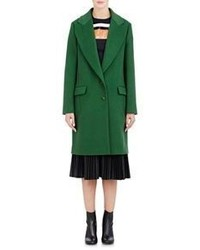 Cédric Charlier Cedric Charlier Brushed Melton Coat Green