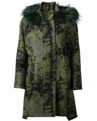 Fendi Concealed Front Hooded Coat