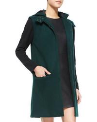 Mia felt colorblock hooded coat medium 145330