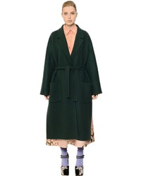 Rochas belted double wool coat medium 800560