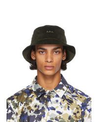 A.P.C. Khaki Corduroy Alex Bucket Hat