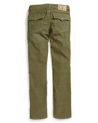 Dark Green Corduroy Jeans