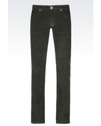 Armani Collezioni 5 Pocket Trousers In Fine Ribbed Corduroy