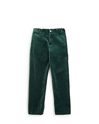 Oscar de la Renta Boys Classic Velvet Pants Green