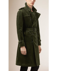 Prorsum corduroy trench coat medium 350323