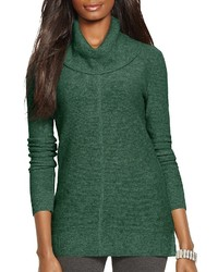 Dark Green Cowl-neck Sweaters for Women | Women's Fashion