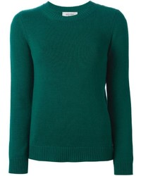 Dark Green Crew-neck Sweater
