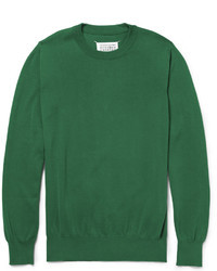 Maison Martin Margiela Elbow Patch Knitted Cotton Sweater
