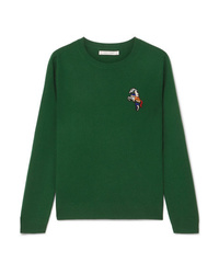 Chinti and Parker Embroidered Cashmere Sweater