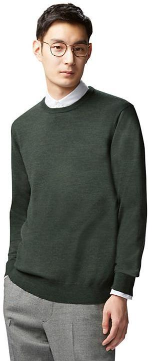 4189e7767759a ... Uniqlo Extra Fine Merino Crew Neck Sweater ...