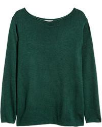 Women's Dark Green Crew-neck Sweaters by H&M | Women's Fashion