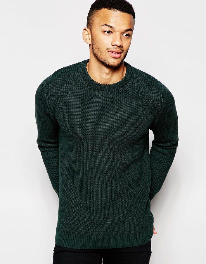 ... Crew-neck Sweaters Jack and Jones Jack Jones Premium Fisherman Knitted  Sweater