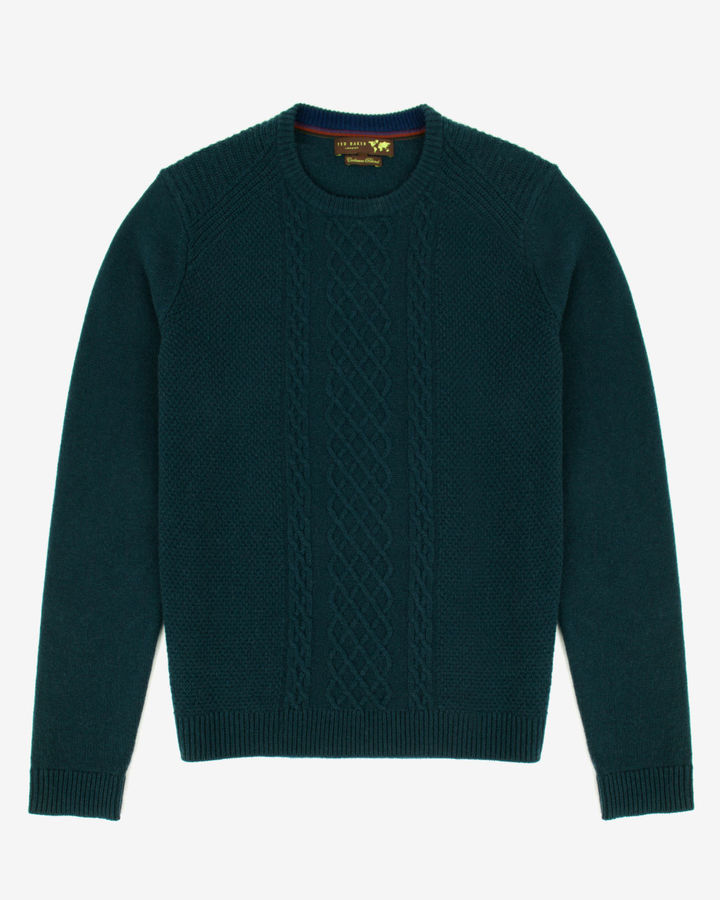 Ted Baker Jarrow Fine Cable Knit Sweater | Where to buy & how to wear