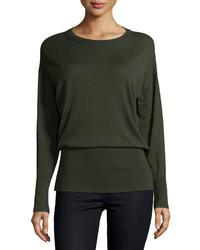Long sleeve merino rib hem sweater medium 708666