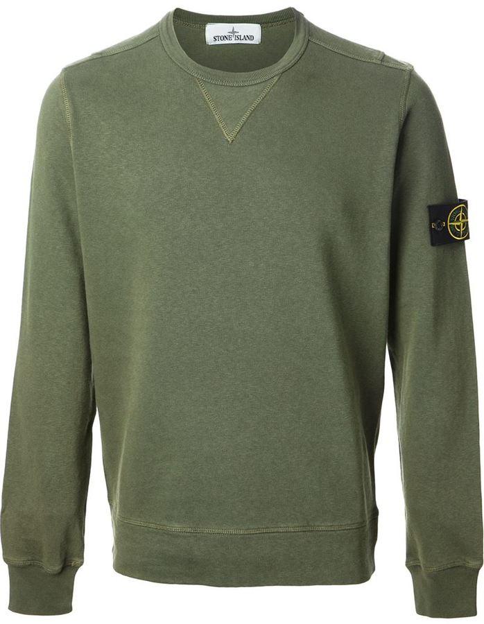 Green stone island sweater