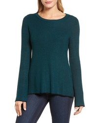 Tipped bell sleeve sweater medium 6697980