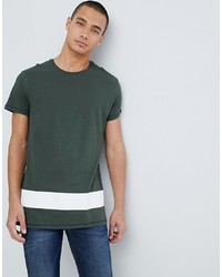 Pier One Colour Block T Shirt In Khaki