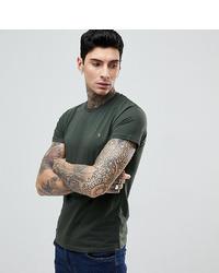 Farah Farris Slim Fit Logo T Shirt In Dark Green