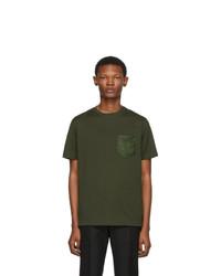 Prada Green Logo Patch T Shirt