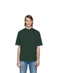 Balenciaga Green Logo Regular T Shirt