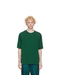 Kenzo Green Striped Mesh Sport Logo T Shirt