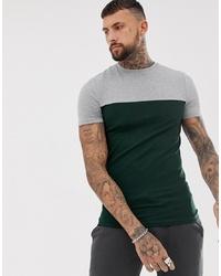 5cbee6506 Men's Dark Green Crew-neck T-shirts from Asos | Men's Fashion ...