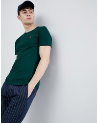 Polo Ralph Lauren Player Logo T Shirt In Dark Green